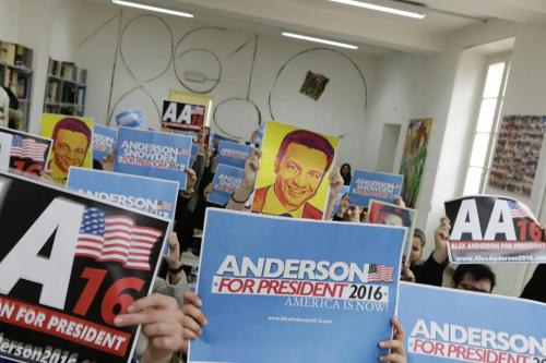 alex anderson for president - rally